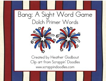 BANG: A Sight Word Game, Dolch Primer Words