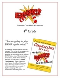 """BANG!"" Common Core Math Vocabulary 4th Grade Game Packet"