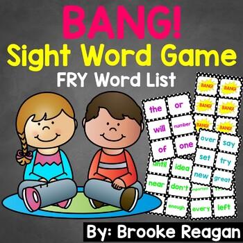 BANG! Editable Sight Word Game (Fry Words)