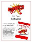"""""""BANG!"""" Kindergarten Sight Words CCSS Game"""