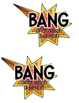 BANG! Operation Addition {A Popsicle Stick Math Fact Game}