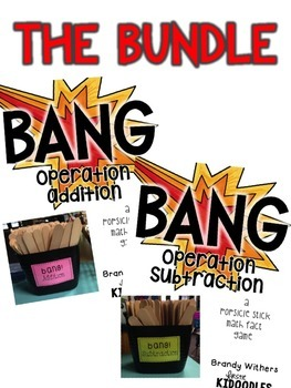 BANG! Operation Addition & Subtraction {A Popsicle Stick M
