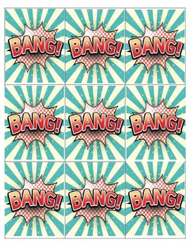 BANG!  Orton Gillingham bang card game and posters for -ng -nk ending blends