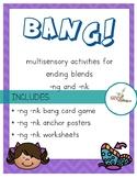 BANG!  Orton Gillingham bang card game and posters for -ng