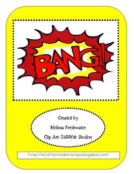 """""""BANG"""" Sight Word Game"""