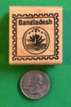 BANGLADESH Country/Passport Rubber Stamp