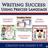 Writing Success: Using Precise Language Bundle