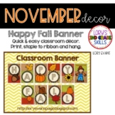 BANNER - Happy Fall