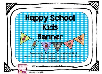 FRIENDS Banner with Kids from all Backgrounds using MELONHEADZ KIDS
