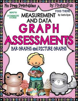 BAR AND PICTURE GRAPH ASSESSMENTS MEASUREMENT DATA COMMON CORE MAFS ENVISION