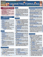 Geometric Formulas - QuickStudy Guide