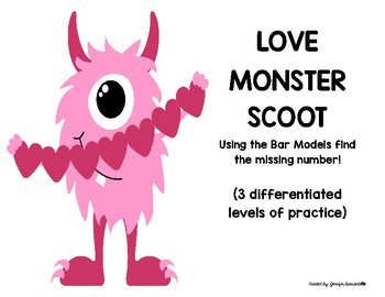 Love Monster--BAR MODEL SCOOT-2 Digit Numbers to 120-(3 Levels)