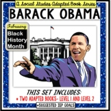 BARACK OBAMA Black History Month ADAPTED BOOK for Special Education