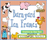 BARNYARD Ten Frame Clip Art Cow Pig {Farm} Rooster 0-10 Common Core Math Aid