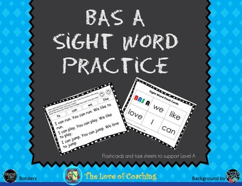 BAS Level A Sight Word Practice