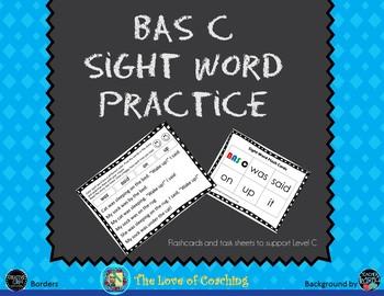 BAS Level C Sight Word Practice