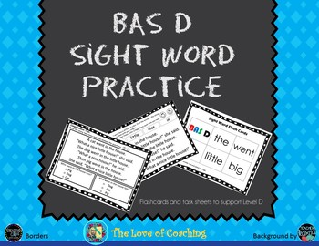 Reading Practice for BAS Level D Includes Comprehension