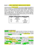 BASC-3 Rating Scale Template - Time Saving!  School Psychologist! Report Writing