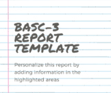 BASC-3 Report Template
