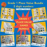 BASE 10 Games (1-99) 1st Grade Place Value BUNDLE