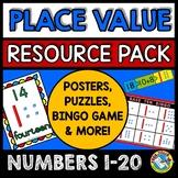 TEEN NUMBERS KINDERGARTEN PLACE VALUE GAMES AND ACTIVITIES 1-20