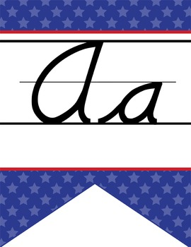 BASEBALL - Alphabet Flag Banner, handwriting, A to Z, D'Ne