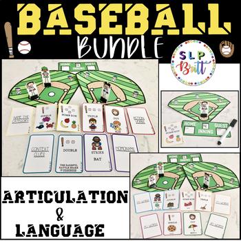 BASEBALL BUNDLE - ARTICULATION & LANGUAGE (SPEECH & LANGUAGE THERAPY)