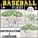 BASEBALL BUNDLE - ARTICULATION & LANGUAGE (SPEECH & LANGUA