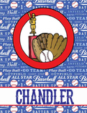 BASEBALL - Student Binder Covers / MS Word, you personalize