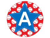 BASEBALL - CIRCLE Bulletin Board Letters / blue