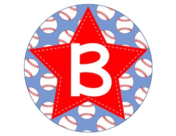 BASEBALL - CIRCLE Bulletin Board Letters / red