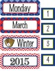 BASEBALL Theme Classroom Decor - Calendar Set