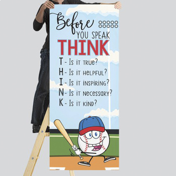 BASEBALL - Classroom Decor: LARGE BANNER, Before You Speak