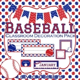 BASEBALL Classroom Decoration Pack