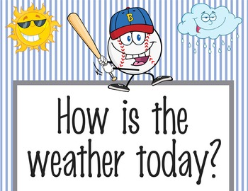 BASEBALL - Classroom Weather Chart