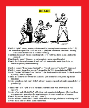 BASEBALL LANGUAGE ARTS GAME