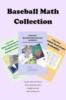 BASEBALL MATH COLLECTION -- Interactive, Creative, Hands-on