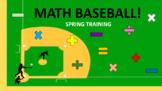 BASEBALL MATH: Spring Training
