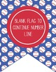 BASEBALL - Number Line Banner, 1 to 25, EDITABLE to continue