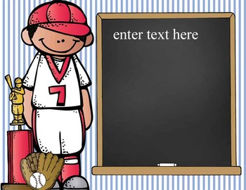 BASEBALL - Punctuation Posters / MS Word, editable