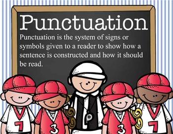 BASEBALL - Punctuation Posters / MS Word, editable