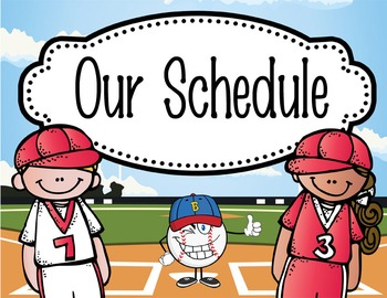BASEBALL - Schedule Cards / editable MS WORD