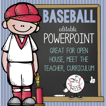 BASEBALL - PowerPoint, Open House, Curriculum Night, Meet the Teacher