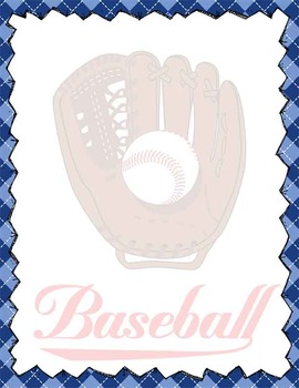 baseball stationery and note cards ms word editable by