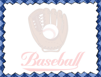 BASEBALL - Stationery and Note Cards / landscape / MS Word, editable
