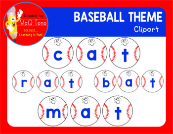 BASEBALL THEME  CLIPARTS ALPHABETS AND NUMBERS
