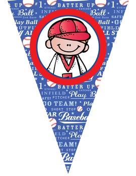 BASEBALL theme - Classroom Decor - Triangle Banners, CREATE a BANNER