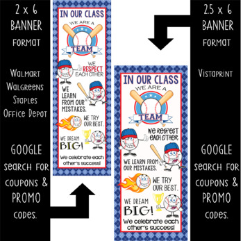 BASEBALL kid - Classroom Decor: LARGE BANNER, In Our Class