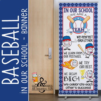 BASEBALL kid - Classroom Decor: LARGE BANNER, In Our School