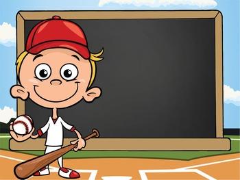 BASEBALL kid - PowerPoint, Open House, Curriculum Night, Meet the Teacher